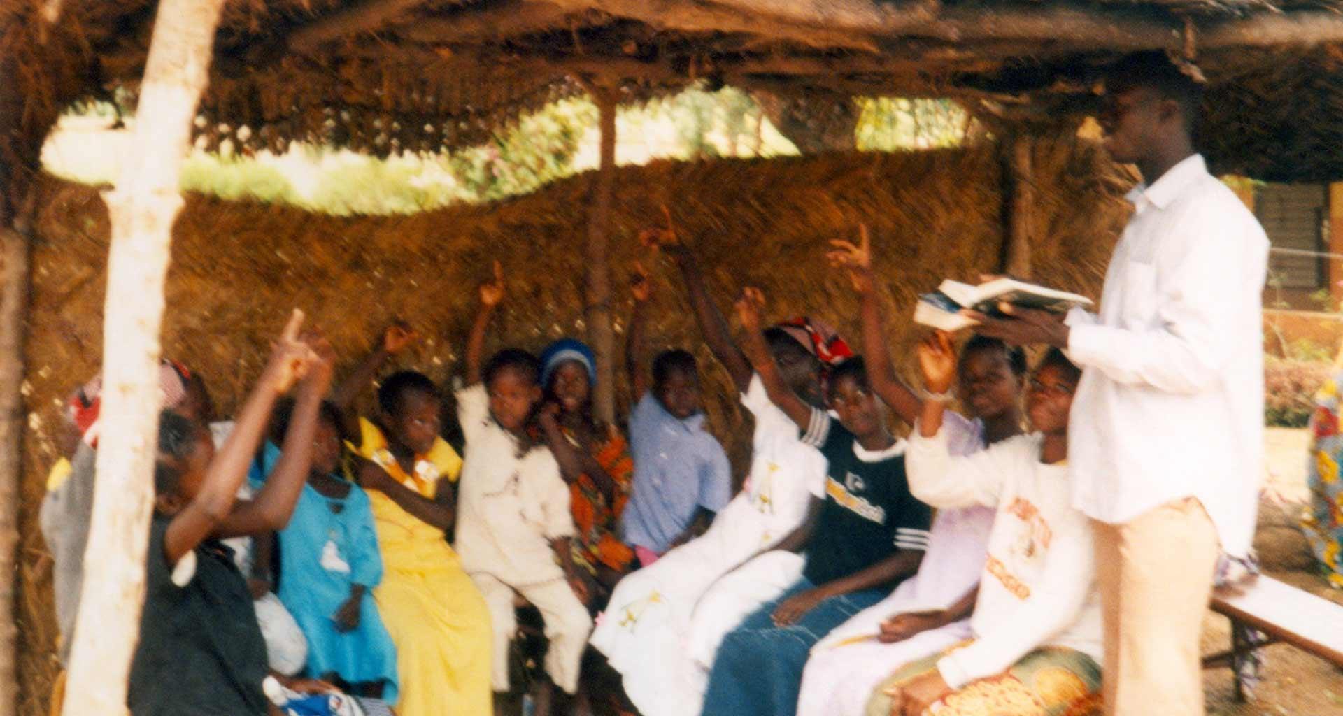 Catequistas no interior de Burkina Faso