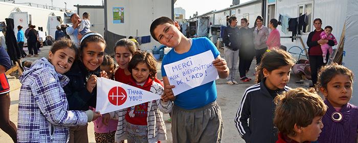 Crianças refugiadas agradecem à ACN