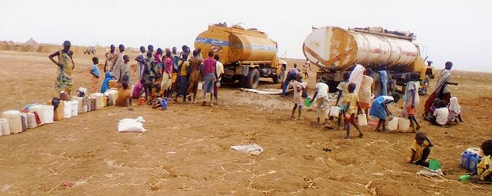 Campo de refugiados no Sudão