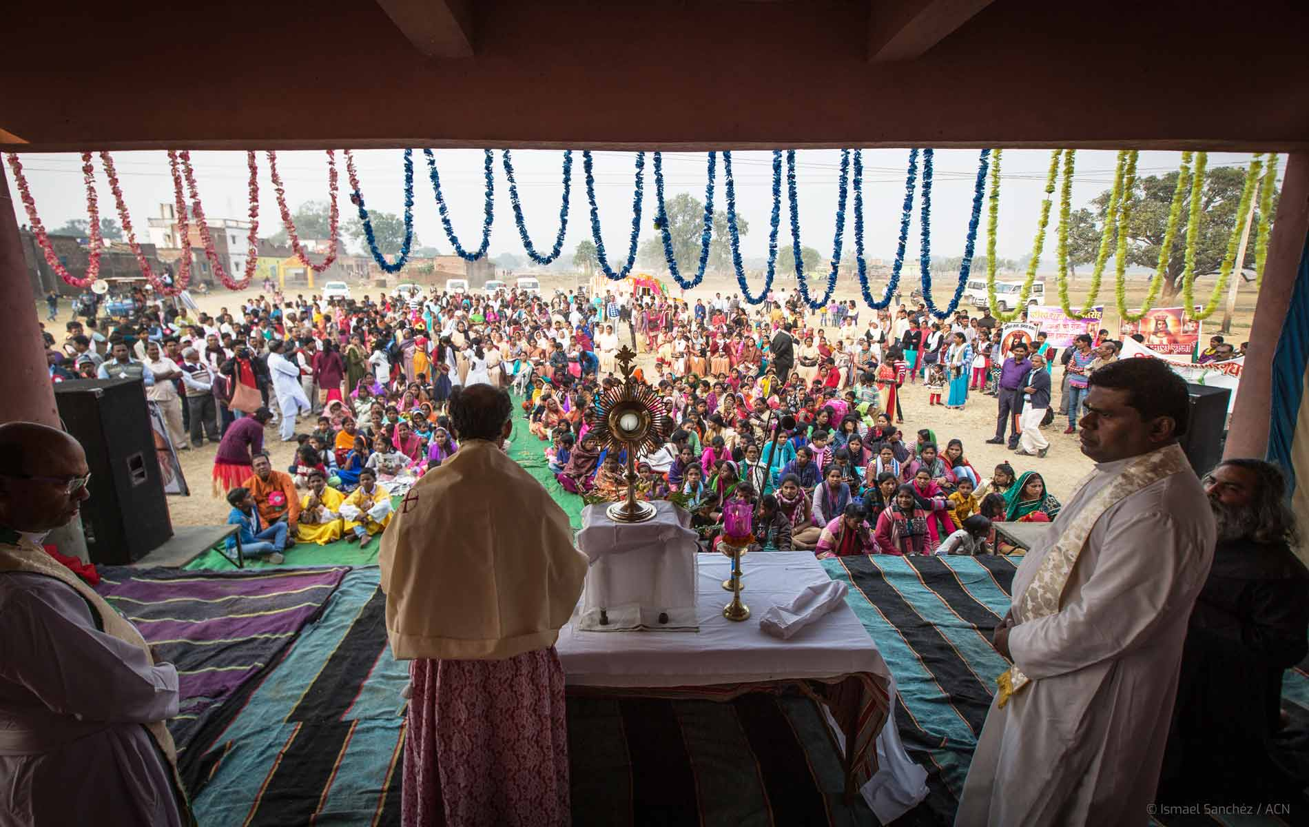 Adoração ao Santíssimo Sacramento no estado de Bihar, Índia